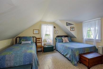 Cotuit Cotuit vacation rental - Bedroom #4 - upstairs - 1 full bed (memory foam) and 2 twins