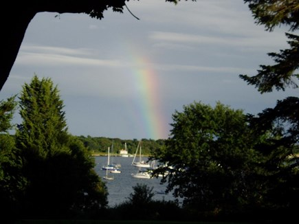 Cotuit Cotuit vacation rental - View of harbor from back yard and kitchen