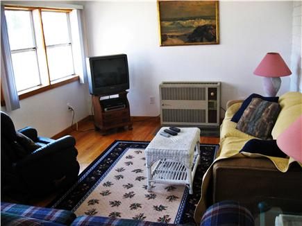 East Falmouth Cape Cod vacation rental - Bright den with view of back garden and queen sized sofa bed