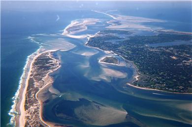 East Orleans Cape Cod Vacation Al Arial View Of Pleasant Bay