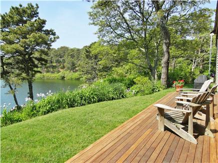 Chatham Cape Cod vacation rental - Relax on large deck facing Stillwater pond