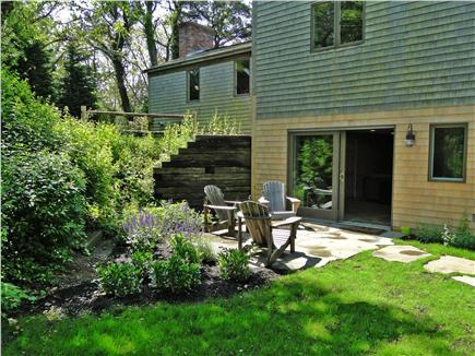 Chatham Cape Cod vacation rental - Private patio off of media room