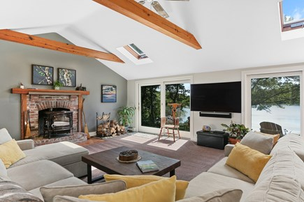 Chatham Cape Cod vacation rental - Open and bright living space with 3 sliders to the deck