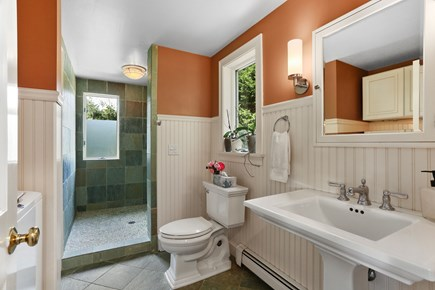 Chatham Cape Cod vacation rental - First floor bathroom, washer/dryer and shower