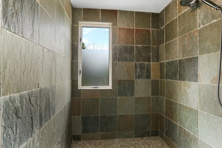 Chatham Cape Cod vacation rental - Natural stone first floor walk-in shower