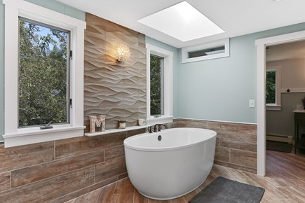 Chatham Cape Cod vacation rental - Relaxing soaking tub under skylight
