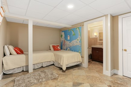 Chatham Cape Cod vacation rental - Twin lower level bedroom ensuite with full bath