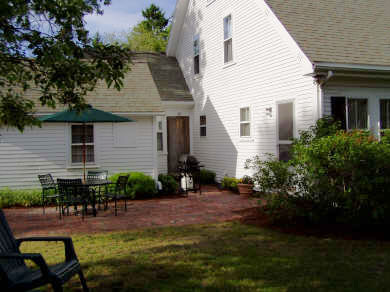 Cotuit, Main Street  Cotuit vacation rental - Brick patio