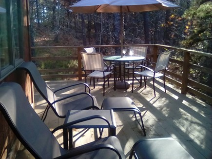 Wellfleet Cape Cod vacation rental - Deck, always some sun and some shade