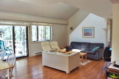 Wellfleet Cape Cod vacation rental - Living room and sliding doors to deck