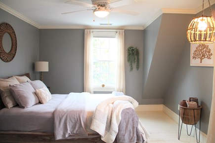 Centerville Cape Cod vacation rental - One of 3 upstairs bedrooms. One of the windows looks into forest.