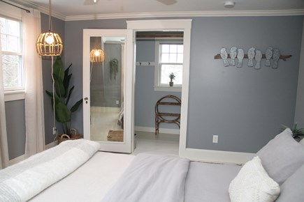 Centerville Cape Cod vacation rental - This bedroom features a walk in closet with shelving/hooksgalore