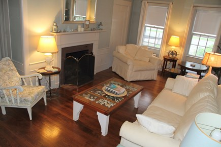 Centerville Cape Cod vacation rental - Living room has a bathroom and a pullout Queen Sofa Bed.