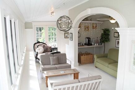 Centerville Cape Cod vacation rental - Sunroom features Keurig station & hidden office nook.