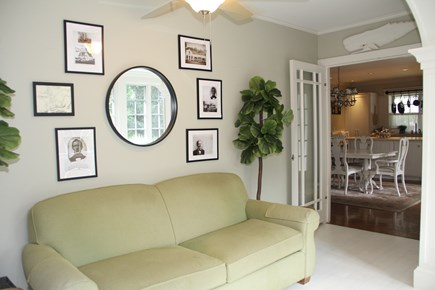 Centerville Cape Cod vacation rental - Sunroom is right off kitchen, featuring local historic documents.