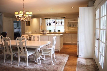 Centerville Cape Cod vacation rental - Kitchen with french doors opening out onto wrap around porch.