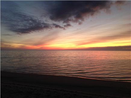 Truro Cape Cod vacation rental - Sunset from Great Hollow Beach