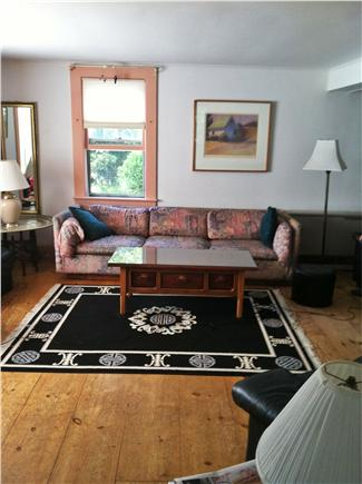 Truro Cape Cod vacation rental - Comfortable and airy Living room with window seat