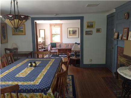 Truro Cape Cod vacation rental - Dining room looking into living room