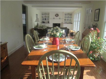 Brewster Cape Cod vacation rental - Kitchen opens to large dining area