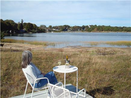Wellfleet Harbor & Beach Cape Cod vacation rental - This is where we enjoy a glass of wine and soak in the vista