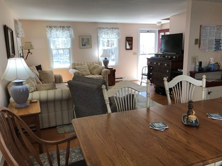 Eastham Cape Cod vacation rental - Spacious living room with view of dining area
