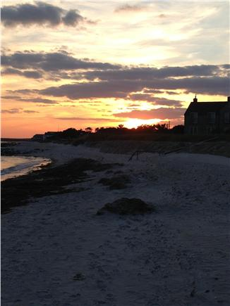 Bass River / South Yarmouth Cape Cod vacation rental - Sunset from our beach!