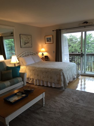 North Truro Cape Cod vacation rental - View of bed with slider to deck