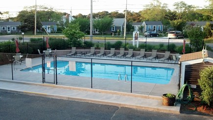 North Truro Cape Cod vacation rental - Inground Pool with deck and picnic tables