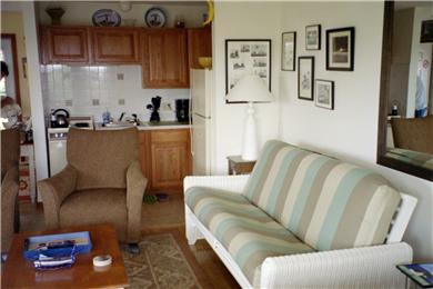 North Truro Cape Cod vacation rental - Kitchen and Living Area