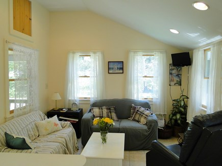 West Yarmouth Cape Cod vacation rental - Den / TV room with door to back yard