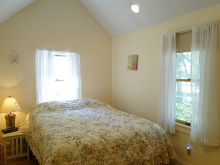 West Yarmouth Cape Cod vacation rental - Queen bedroom with vaulted ceiling and TV