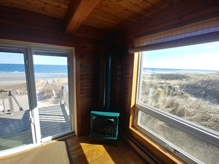 sandwich Cape Cod vacation rental - Sit By The Fire While Enjoying Sweeping Ocean Views
