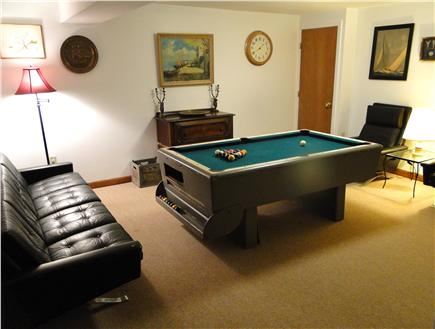So. Harwich/So. Chatham Cape Cod vacation rental - Ground floor family room with pool table