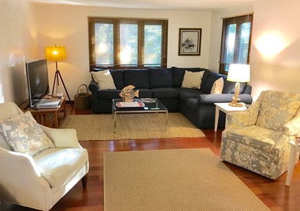 So. Harwich/So. Chatham Cape Cod vacation rental - Spacious living room with 55'' TV and access to sunroom and porch