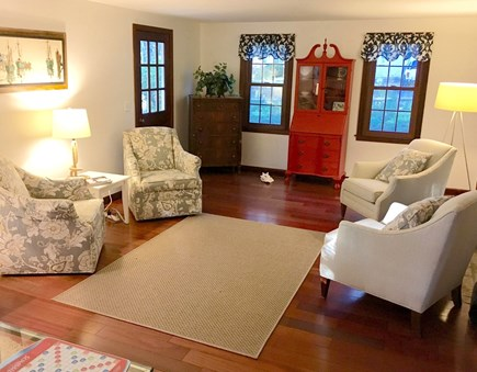So. Harwich/So. Chatham Cape Cod vacation rental - Large cozy living room with fireplace