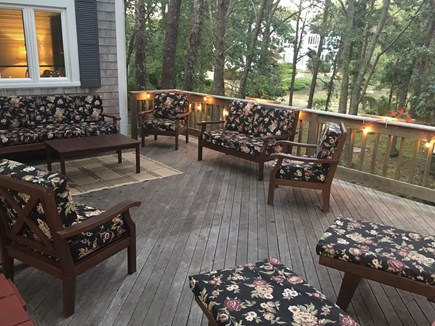 So. Harwich/So. Chatham Cape Cod vacation rental - Deck area in the early evening