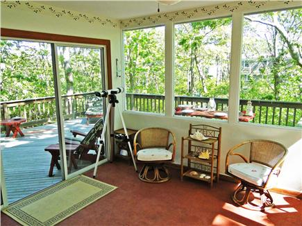 So. Harwich/So. Chatham Cape Cod vacation rental - Bright sunroom with sitting area & ocean view