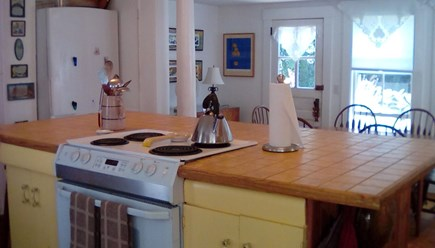 Wellfleet Center Cape Cod vacation rental - Kitchen island great for group cooking