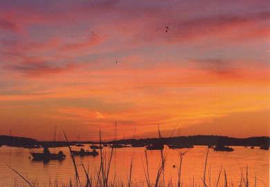 Wellfleet Cape Cod vacation rental - Brilliant sunset