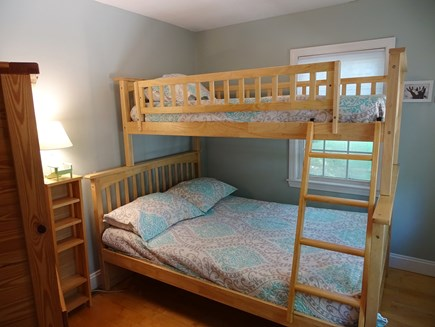 West Yarmouth Cape Cod vacation rental - Twin over full size bunk on main floor, with TV
