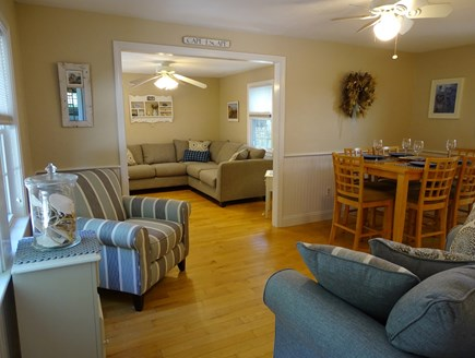 West Yarmouth Cape Cod vacation rental - New furniture in open living area