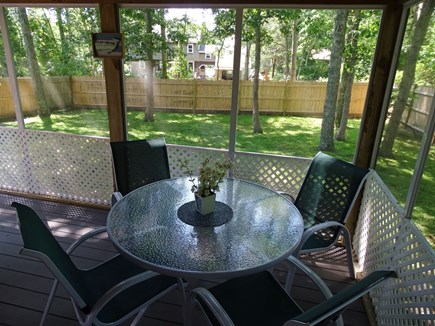 West Yarmouth Cape Cod vacation rental - Lovely place to enjoy a meal, overlooking back yard