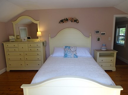 West Yarmouth Cape Cod vacation rental - Queen master bedroom with flat screen TV, access to deck