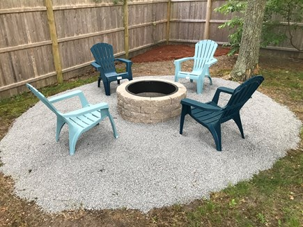 West Yarmouth Cape Cod vacation rental - Toast s'mores on newly built fire pit.