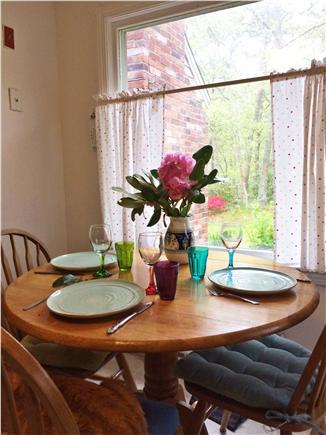 Harwich Cape Cod vacation rental - Eating area with large picture window in the kitchen