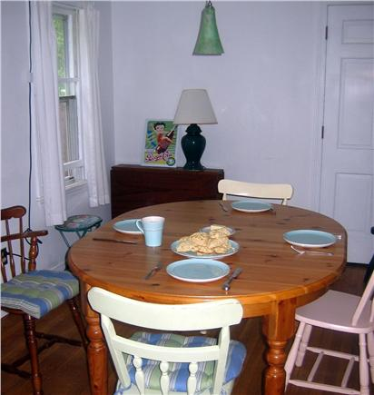 Harwich Cape Cod vacation rental - Dining room table can be expanded to seat eight with leaves.