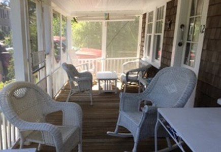 Harwich Port Cape Cod vacation rental - Roomy front porch to enjoy & welcome you! Comfie wicker seating!
