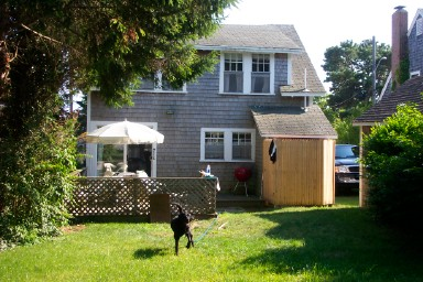Harwich Port Cape Cod vacation rental - Large, double lot backyard with new deck & outdoor H/C shower