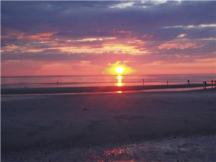 East Orleans Cape Cod vacation rental - Sunset on capecod bay - walk far into the bay at Skaket beach.